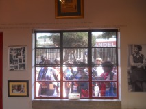Mandela House, Soweto. 2014, Winnie to the right.