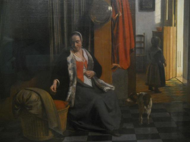 De Hooch, The Mother, 1661/63 Berlin detail